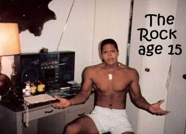 Featured image for The Rock Tweets Pic Of 15-Year-Old Self For 'Throwback Thursday'