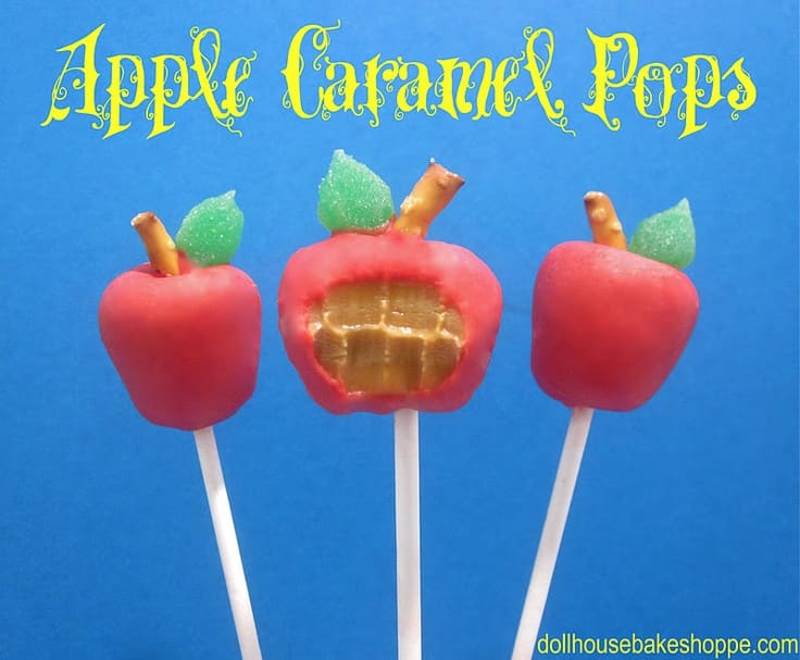 Apple Caramel Pops