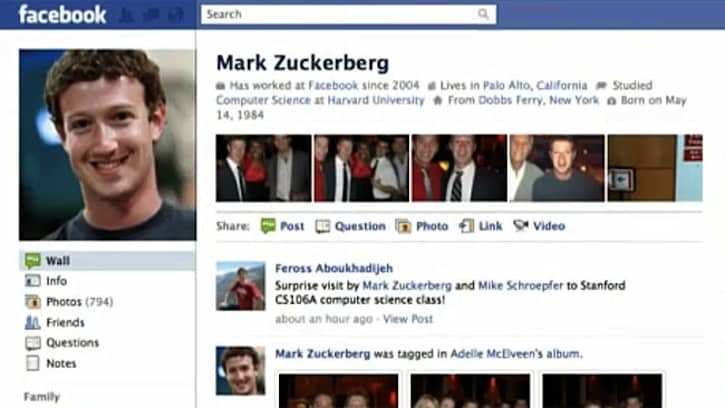 Mark Zuckerberg's Facebook Page Hacked To Highlight ...
