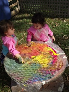Toddler Bubble Wrap Paint Activity