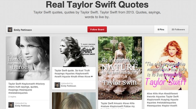 real taylor swift quotes