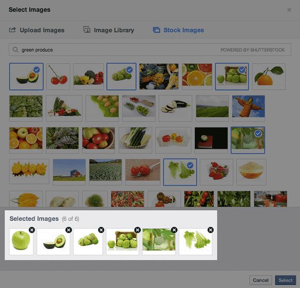 Shutterstock Facebook Ad Creator Integration