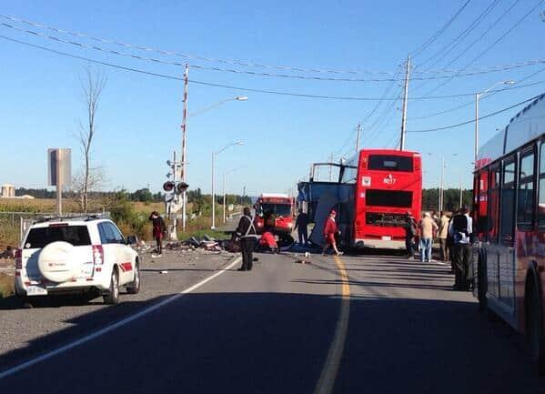 Double Decker Bus Train Crash