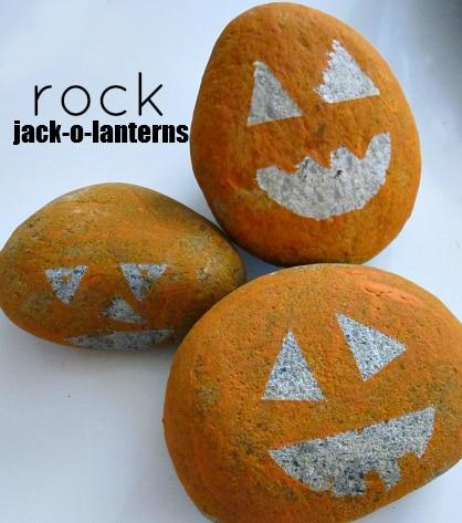 Rock Jack-O-Lanterns