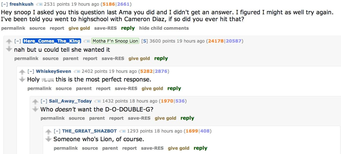 So, Ken Bone did a Reddit AMA, and weirdly enough, Snoop ...