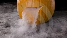 Dry Ice Carved Pumpkin