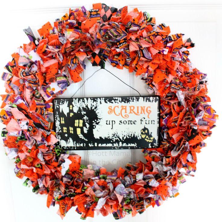 halloween fabric wreath candy corn wreath - Halloween Candy Wreath
