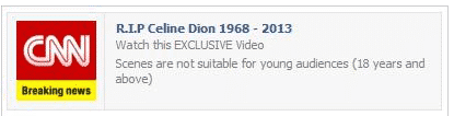 celine dion death hoax