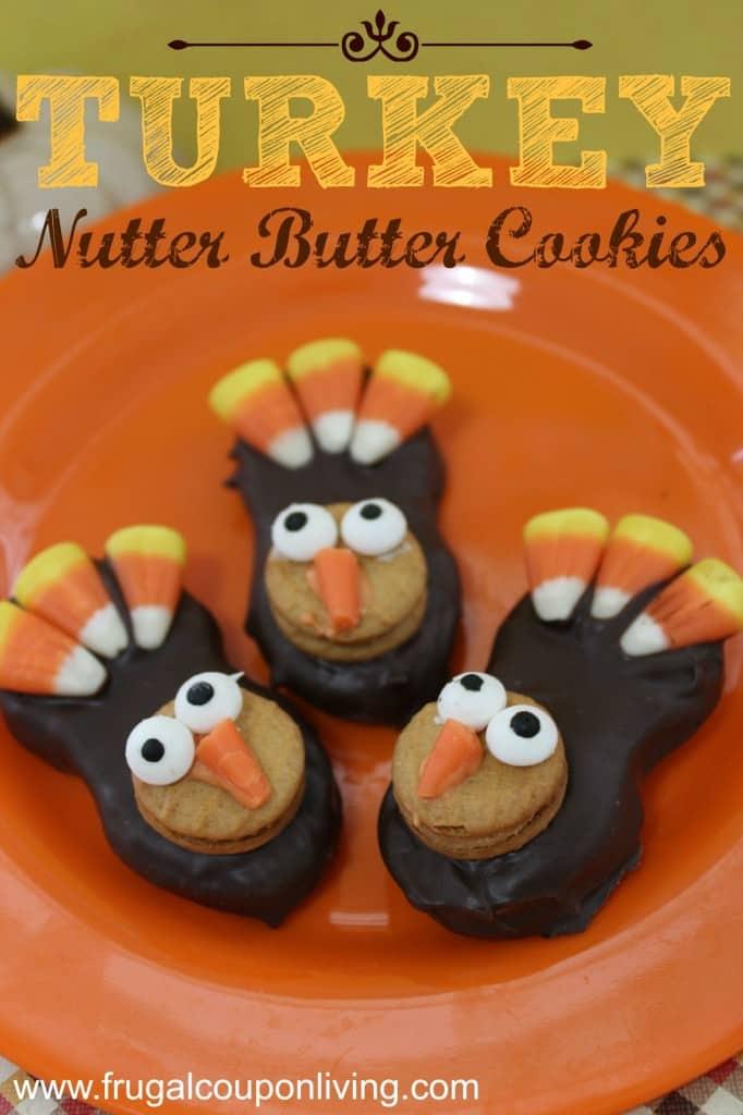 Turkey Nutter Butter Cookies