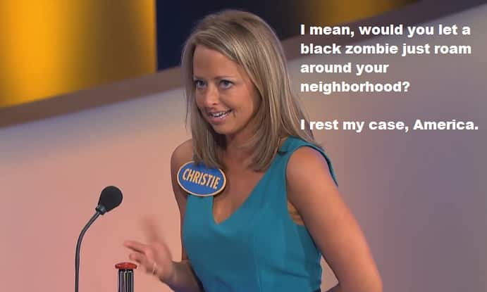 Featured image for Show Me: Racism! Family Feud Contestant Thinks All Zombies Are Black [Video]