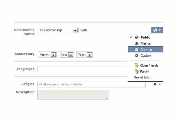 how to delete relationship status on facebook