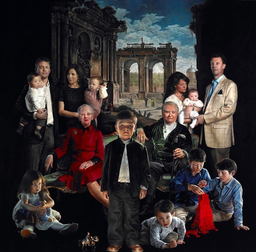 Featured image for Danish Royal Family Portrait Looks Like A Horror Movie Poster