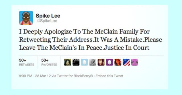 Featured image for Spike Lee Sued Over Tweet In Zimmerman Case