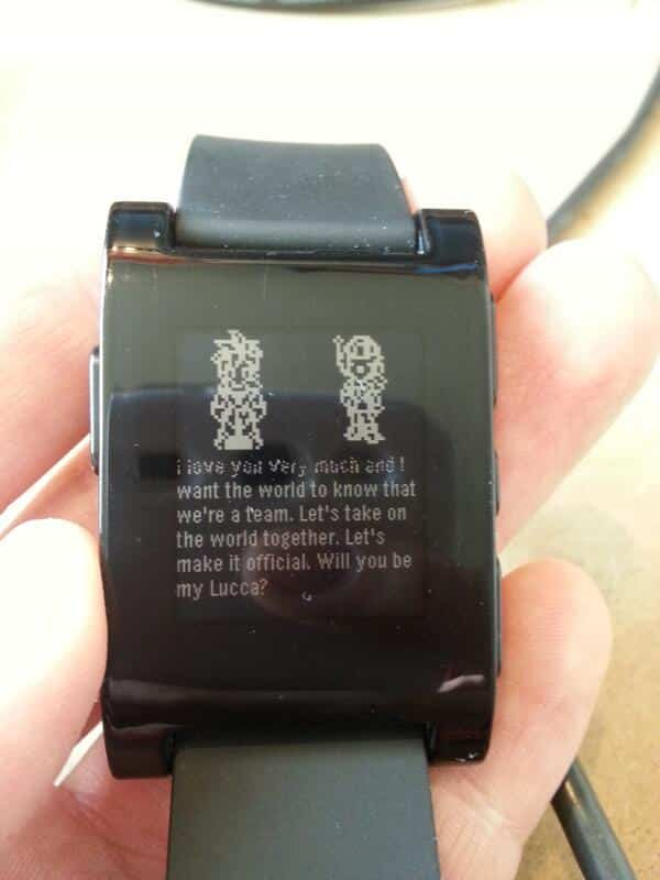 Featured image for Programmer Hacks Pebble Smartwatch, Proposes To Girlfriend In True Geek Fashion