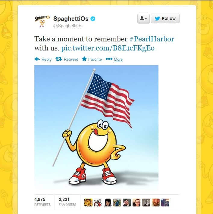 SpaghettiOs Pearl Harbor