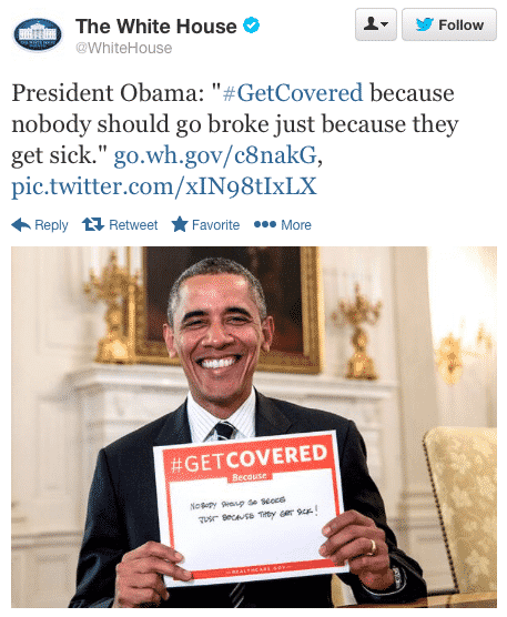 Featured image for Obama's #GetCovered Photo Faces Epic Twitter Vandalism