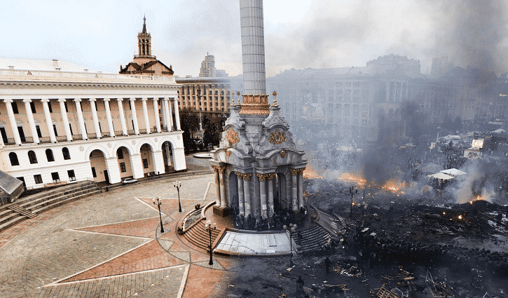 Featured image for Kiev's Independence Square Before-And-After Photo Goes Viral