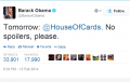 President Obama Tweets House Of Cards