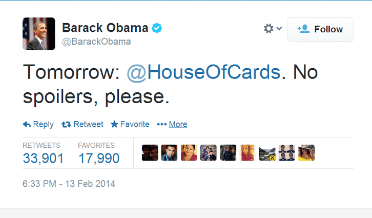 Featured image for President Obama Hopes You Won't Spoil 'House Of Cards' For Him