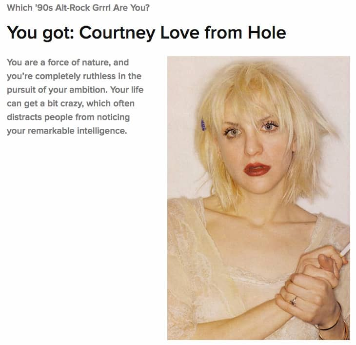 Garbage's Shirley Manson Takes BuzzFeed Quiz, Fails