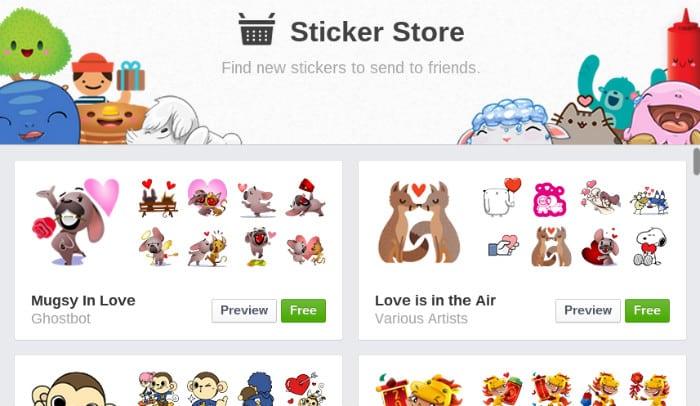 Featured image for Get Lovey Dovey For Valentine's Day With Two New Facebook Sticker Packs