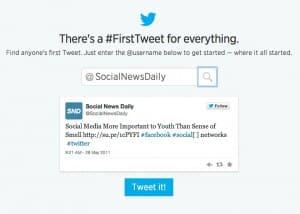 First Tweet Twitter tool