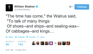 William Shatner Twitter Decision