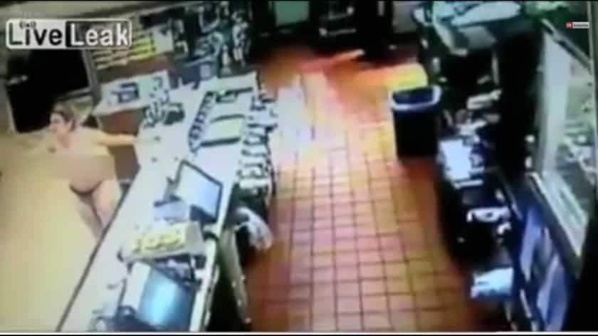 Featured image for Watch This Topless Woman Go On A Rampage In A Florida McDonalds [Video]