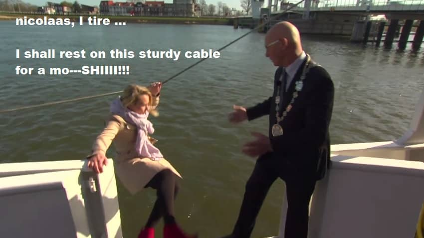 Featured image for One Dutch Reporter's Epic, Hilarious Interview Fail On A Boat [Video]