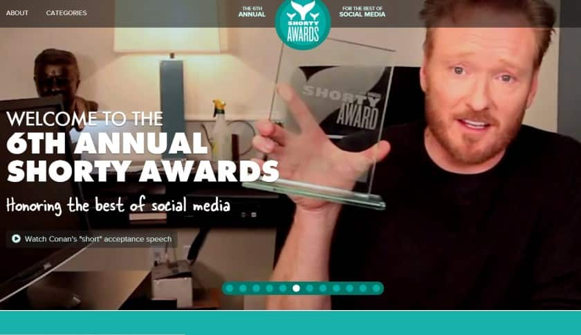 Featured image for Winners Of The 2014 Shorty Awards
