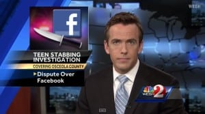 stabbed over facebook
