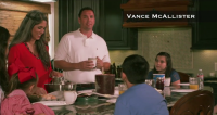 Congressman Vance McAllister is known for his family values. Well, at least he was until this morning when a video surfaced showing him kissing one of his staffers.