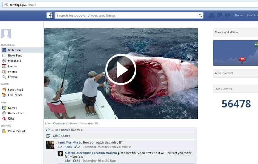 shark scam video
