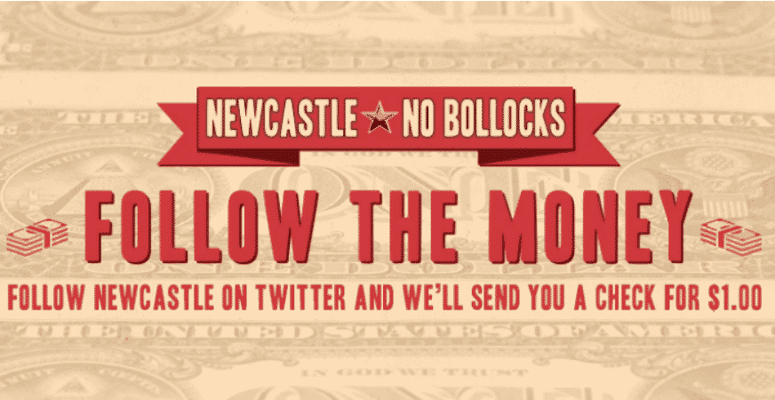 Featured image for Newcastle Giving Away Money To New Followers