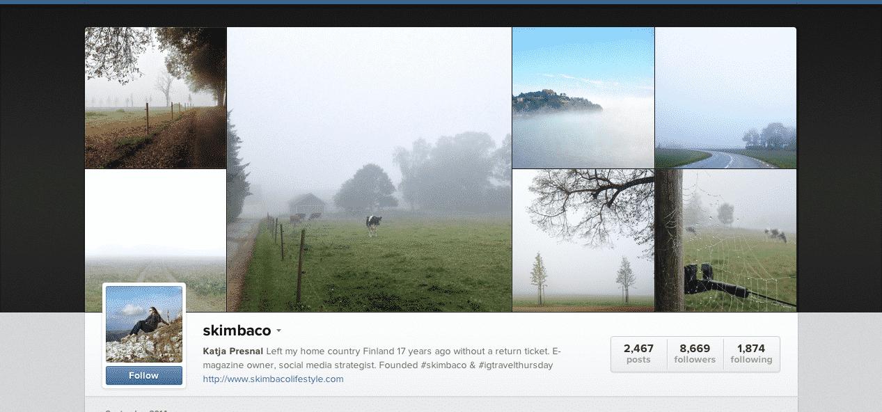 Travelgasmic Instagram Accounts to Follow