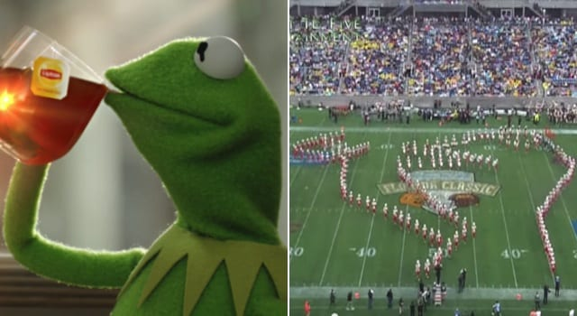 Featured image for FAMU Marching Band Uses Kermit Meme During Halftime Show [Video]