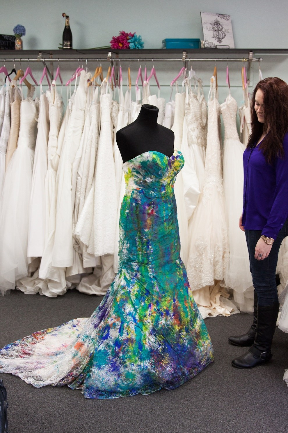 Trash the dress bride ruins wedding dress in the best way for How to display a wedding dress