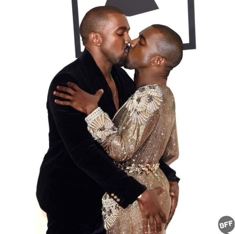 Kanye Kissing Himself