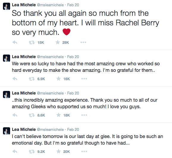 Lea Michele Took Home A Memorable 'Glee' Souvenir, Cast Says