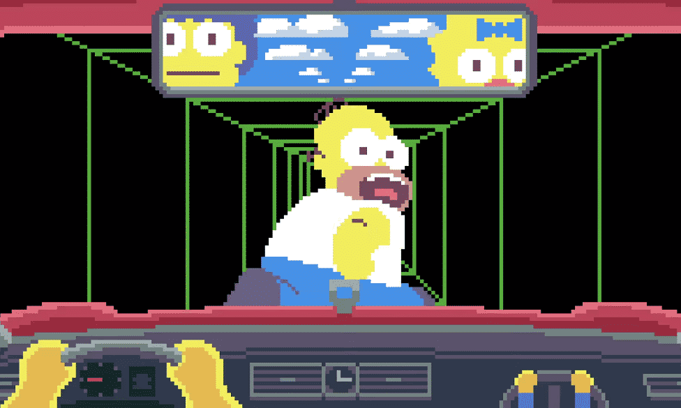 Check Out The Simpsons In Pixel Art Video