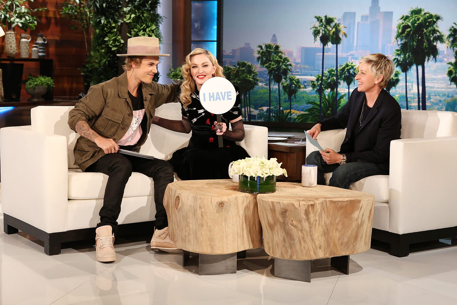 Featured Image For Madonna And Justin Bieber Play Never Have I Ever On U0027The  Ellen