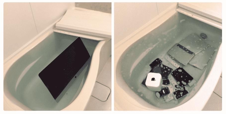 High Quality Girlfriend Throws Cheating Boyfriendu0027s Apple Products In Soapy Bathtub  [Photos]