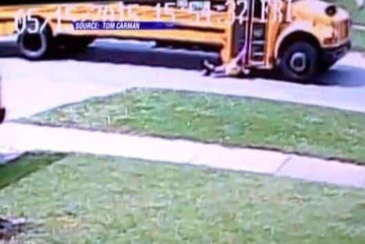 school bus drags girl