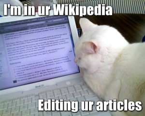 I'm in ur Wikipedia Lolcat