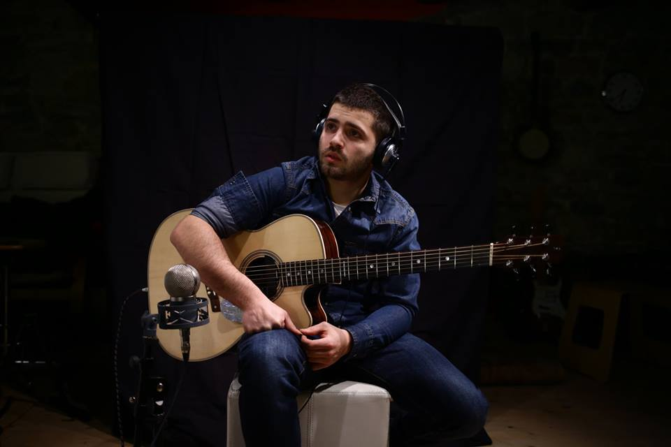 Luca Stricagnoli at the studio