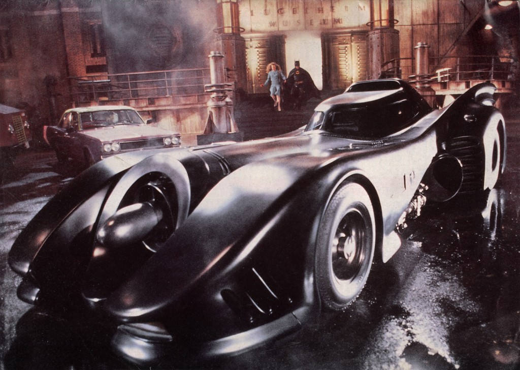 "Lawrence's replica Batmobile is based off the design from Tim Burton's 1989 film ""Batman""."