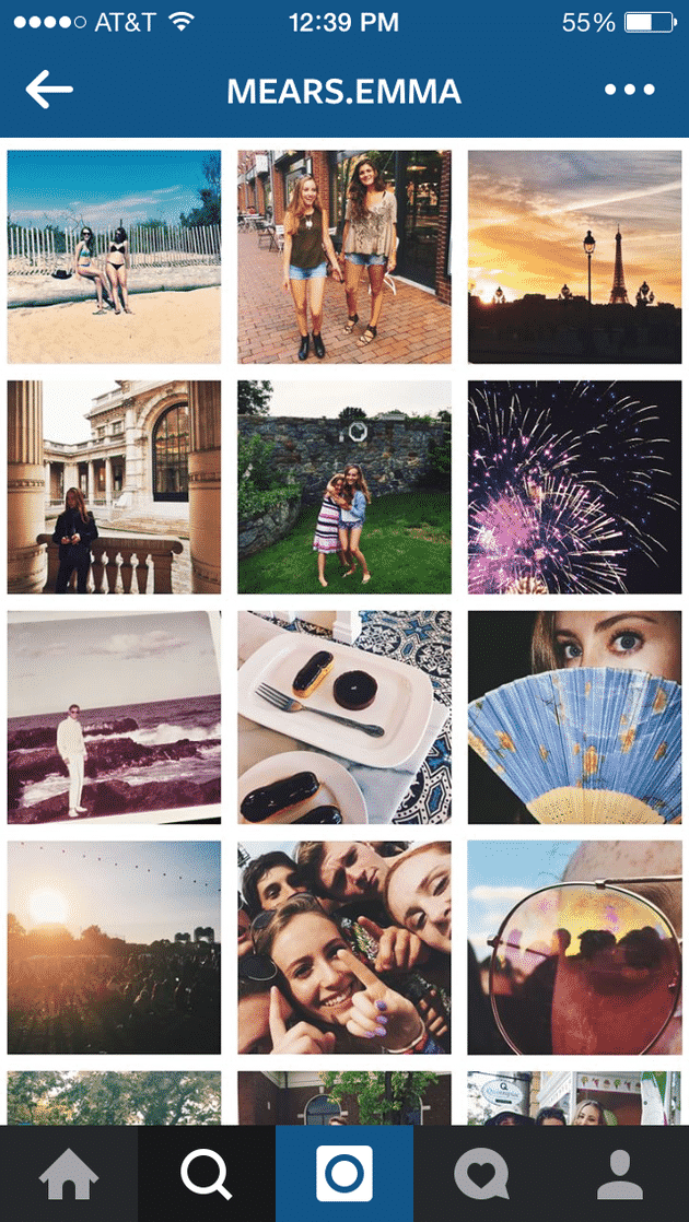 On the other hand, this instagrammer shows a keeness of r vibrant colors and neatly-framed images.