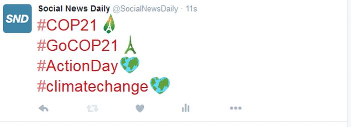 Twitter Creates Emojis for Paris Climate Change Summit