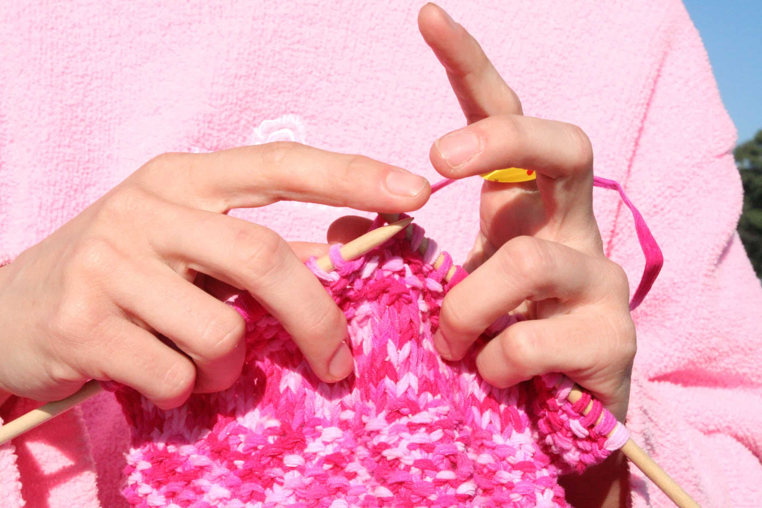 Featured image for Grandma Gets Locked in Public Restroom, Spends 4 Days Knitting [HOAXED]