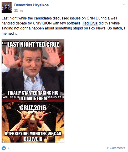 Screen shot 2016 03 11 at 1.40.06 PM in a hilarious turn, the internet wants ted cruz to be the zodiac